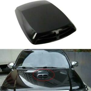 Universal Polished Black Race Car Hood Scoop Accessories Air Vent Bonnet Cover