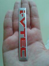 For Honda I-VTEC Trunk Red Aluminium Emblem Sticker Side badge ( Fast Shipping )