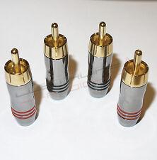 4x Connettore RCA placcato oro 24k -  qualità OTTIMA audiophile plug