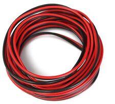 5M Rosso/Nero Altoparlante Cavo Filo Auto Casa Stereo HiFi/Misuratore audio per auto 2 x 0.50mm