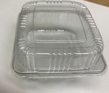 """5""""  Clear Plastic Hinged Food Container For Salad Sandwich  100 Pack"""