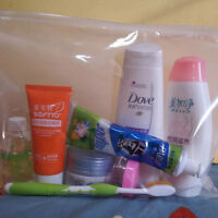 1 X Clear Transparent Plastic PVC Travel Cosmetic Make Up Toiletry Zipper Bag hc