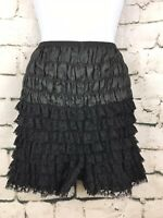 Vintage Malco Modes Sexy Ruffle Panties Pettipant Bloomers Black USA Made Large