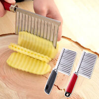 Potato Wavy Chip Crinkle Cutter Stainless Steel Vegetable French Fries Slicer