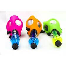 Bio Hazard Neon Gas Mask W/ Acrylic Water Pipe Set - Assorted Neon Colors