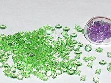 30pc tiny little Crystals rhinestone fairy glitter floating locket gem 3mm Green