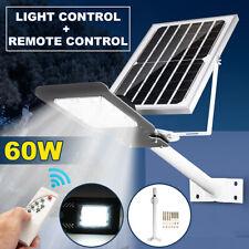60W 48LED Solar Light Outdoor Wall Street Light Outdoor Garden Lamp +   L