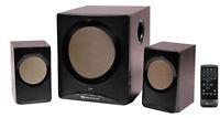 Rockville ROCK MEDIA Bluetooth Bookshelf Speaker System+Sub/USB/SD/FM+Remote