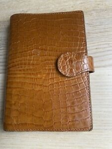 Mulberry Leather Filofax England pocket planner