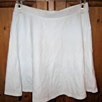 Forever 21 Junior's Skirt Skater Full Mini White Size Medium NEW