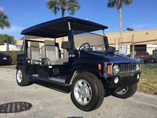 New listing  Black 2015 acg hummer Golf Cart 6 passenger seat custom Lsv Street Legal canopy