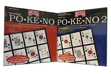 Set 2 Pokeno & Pokeno Too by Bicycle Red and Blue Pokeno Games 24 Unique Boards