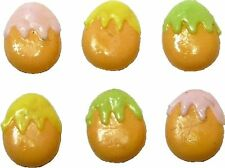Dollhouse Miniature Set of 6 Egg Shape Easter Cookies by Bright deLights