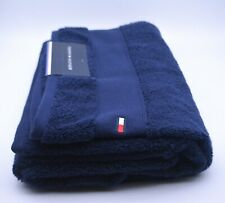 Tommy Hilfiger Bath Towel In Navy Blue Cotton Brand New Genuine Item With Tags