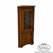 Hand Crafted 18th Century Style Tiger Maple Diminutive Corner Cabinet