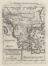 1685 TURCHIA IN EUROPA GRECIA BALCANI 17th Secolo Incisione MAPPA Mallet