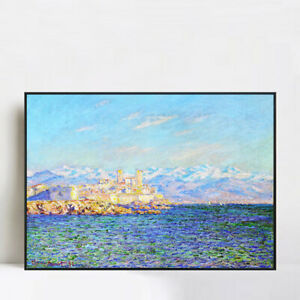 """Framed Giclee Print Art Antibes, Afternoon Effect(1888) by Claude Monet 24""""x32"""""""
