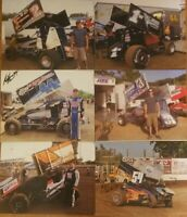 Lot of 6 Signed 410 Sprint Car Pics  Outlaws Pa Posse Bolke Henry Cannon n More!