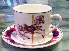 Teleflora Carousel Horse Tea Cup and Saucer