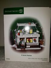 Department 56 New England Village W. Bartell Physician 56.57006 Brand New In Box