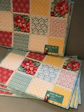 The Pioneer Woman Diamond Patchwork Reversible Table Placemats Set of 6 New