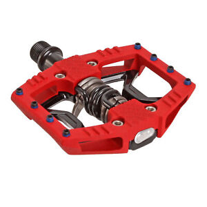 Crank Brothers Doubleshot 3 hybrid pedals red/black