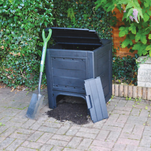 Large Garden Soil Composter Recycling Bin 260L Eco Friendly Waste Compost Grass