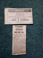 Gdn Ephemera 1969 yarmouth film advert half a sixpence Tommy Steele