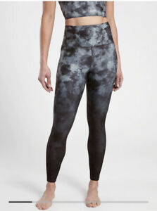"Athleta Women 25"" Elation Printed 7/8 Tight 661535 Gray Black Dye XL #661535"