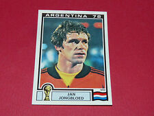 110 JONGBLOED HOLLAND ARGENTINA 78 FOOTBALL PANINI WORLD CUP STORY 1990 SONRIC'S