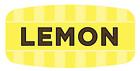 "Lemon Labels 1000 per Roll Food Store Flavor Stickers .625"" X 1.25"""