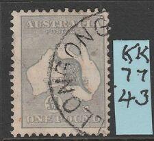 Roos 1 Pound Grey CofA Wmk VVFU L%$K K 74