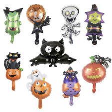 9pcs Halloween Mini Mix Foil Balloons Air Fill Decoration Witch Bat Cat Pumpkin