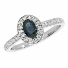 Unbranded Cluster Sapphire Oval Fine Gemstone Rings