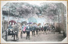 1905 Postcard: Japanese Geisha Girls in Rickshaws-Japan