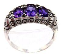 Amethyst  Ring  Amethyste  925 STERLING SILBER   Gr. 57   Antik Style