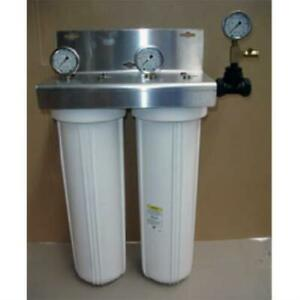 Whole Home Water Filter with Gauges - Sediment and Chloramine Filter