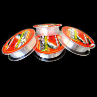 NEW Strong Fishing Line Japanese 100m Nylon Transparent Fluorocarbon Tackle Line