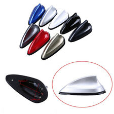 Silver Car Roof Radio Signal Receiving Antenna Enhance Decoration Shark Fin Type
