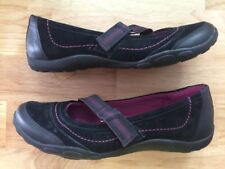 Sz 7 M Haley CLARKS Black Leather Mary Jane Slip On Casual Shoes EUC Loafers