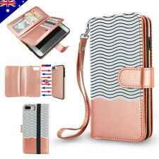For iPhone X 8 6 7 Plus Luxury Wallet Case Flip Leather Removable Magnetic Cover