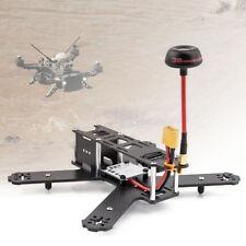 Black 180mm Carbon Fiber Aircraft Frame Kit Mini Quadcopter FPV RC Aluminum WT