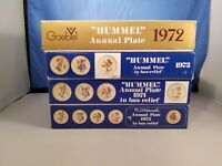 HUMMEL 1972 1973 1974 1975  ANNUAL PLATE Lot of 4 IN BOX