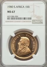 1980 South Africa Gold 1oz Krugerrand NGC MS 67