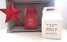 East of India Square Vintage Xmas Gift Box Merry Christmas Jewellery Present