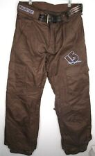 BURTON The White Collection Brown Snowboarding Pants Size Large