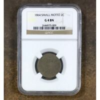 1864 Two Cent Piece Small Motto NGC G4 BN #5009167