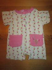 Baby Girls Pink/White MON PETIT Floral S/S Short One-Piece Outfit - 3-6 Months