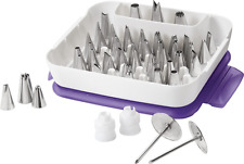 Wilton 55 piece Master Icing Tip Set Cake Decorating nozzle piping tube box