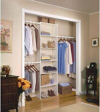 Vertical Organiser Closet Systems Free Standing Shelving Adjustable Hanging Rod